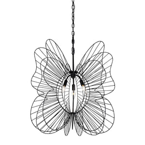 Monarch Butterfly 3-Lt Pendant - Black