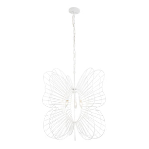 Monarch Butterfly 3-Lt Pendant - White
