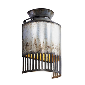 Hickory Lane 1-Lt Wall Sconce - Ombre Galvanized/Black