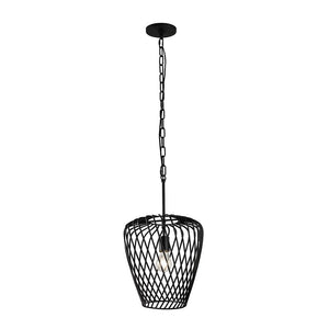 Elsa 1-Lt Wine Glass Pendant - Black