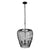 Elsa 3-Lt Wine Glass Pendant - Black