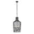 Elsa 3-L t Wine Bottle Pendant - Black