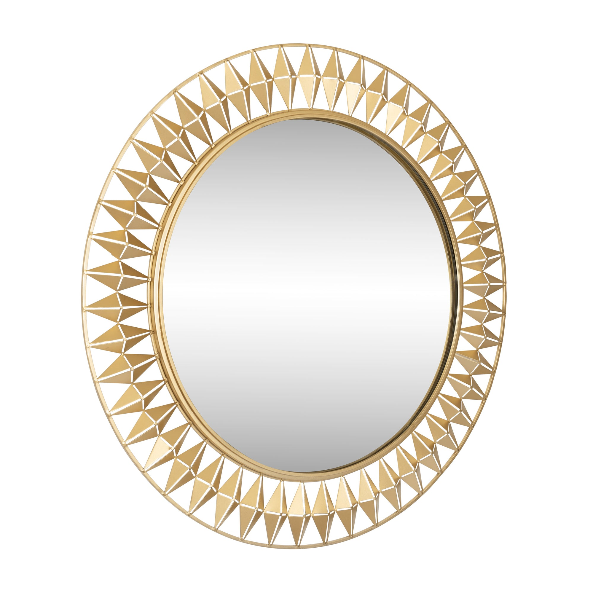 Forever Round Mirror - French Gold