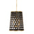 Bailey 4-Lt Foyer Pendant - Matte Black/French Gold