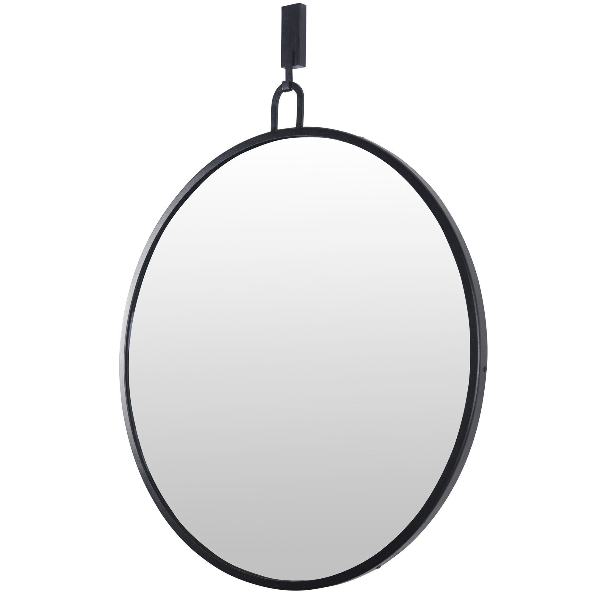 Stopwatch 30-in Round Accent Mirror - Black - 407A01BL