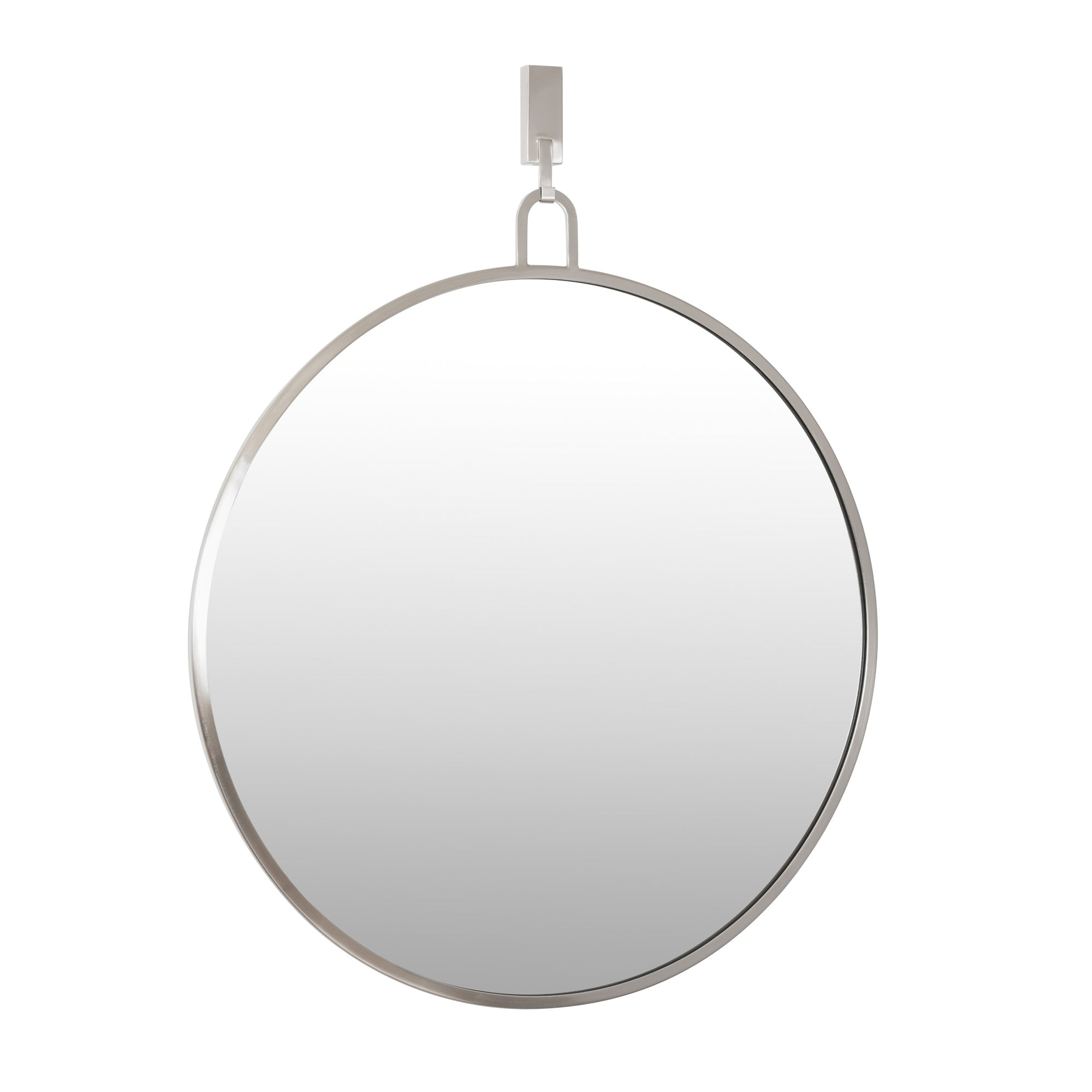 Stopwatch 30-in Round Accent Mirror - Brushed Nickel - 407A01BN