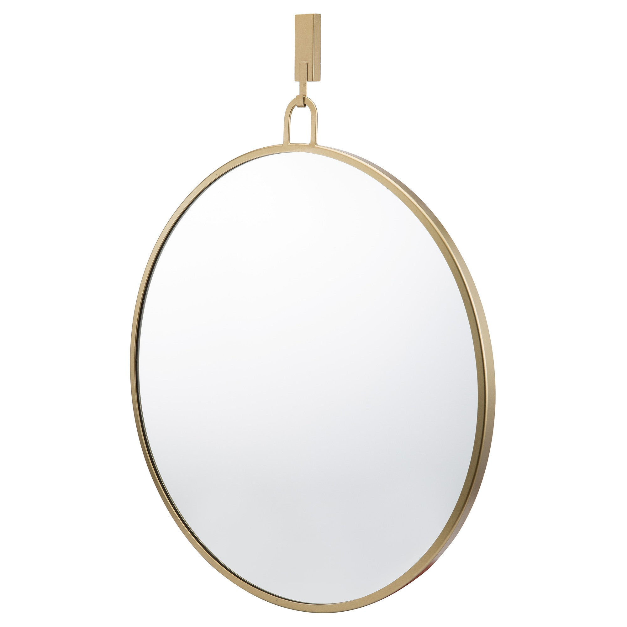 Stopwatch 30-in Round Accent Mirror - Gold - 407A01GO