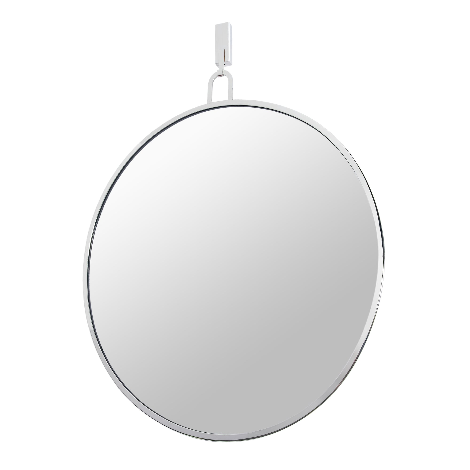 Stopwatch 30-in Round Accent Mirror - Polished Nickel - 407A01PN
