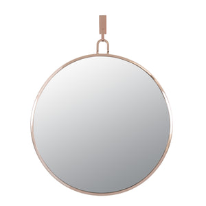 Stopwatch 30-in Round Accent Mirror - Rose Gold - 407A01RG