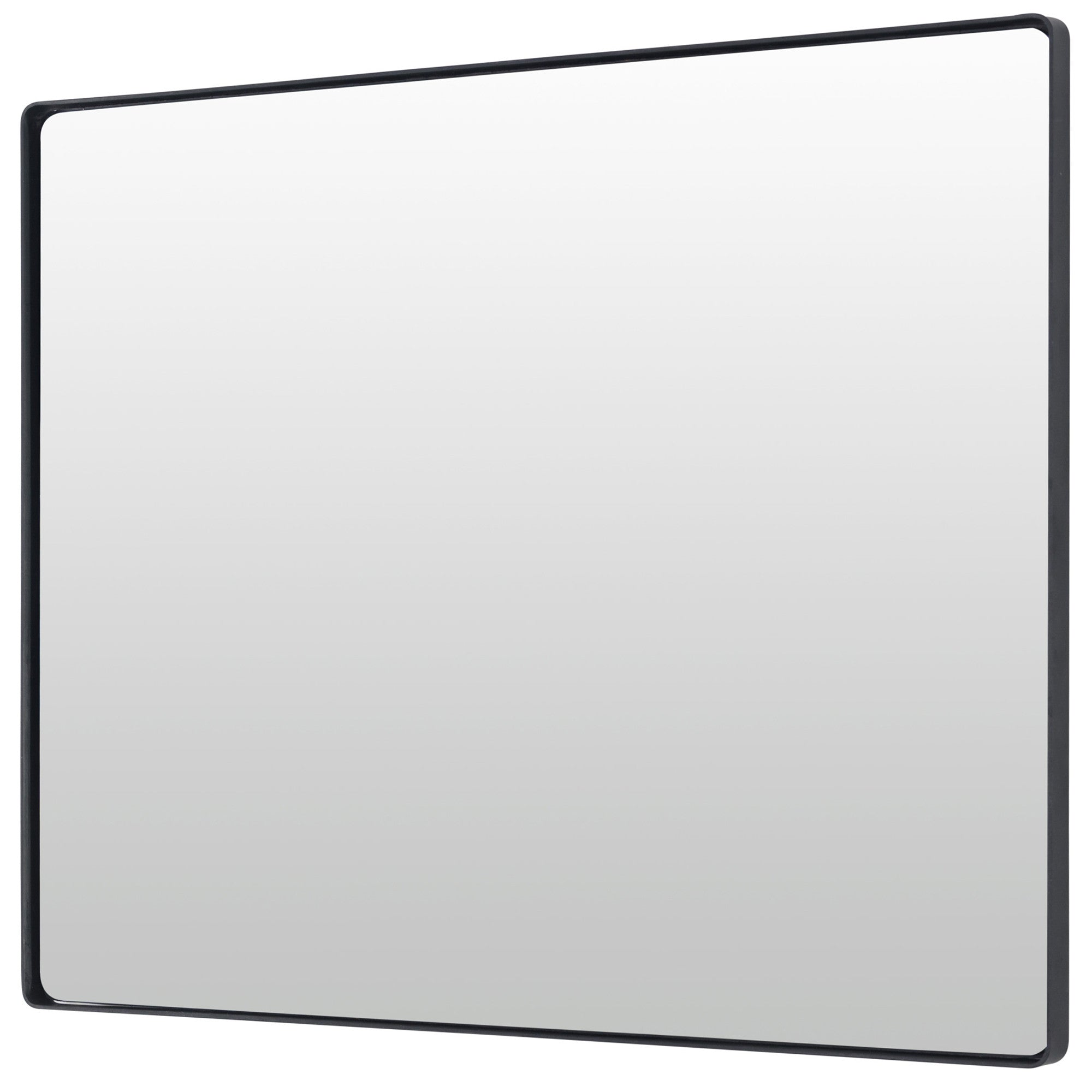 Kye 24x30 Rectangular Rounded Wall Mirror - Black - 407A02BL
