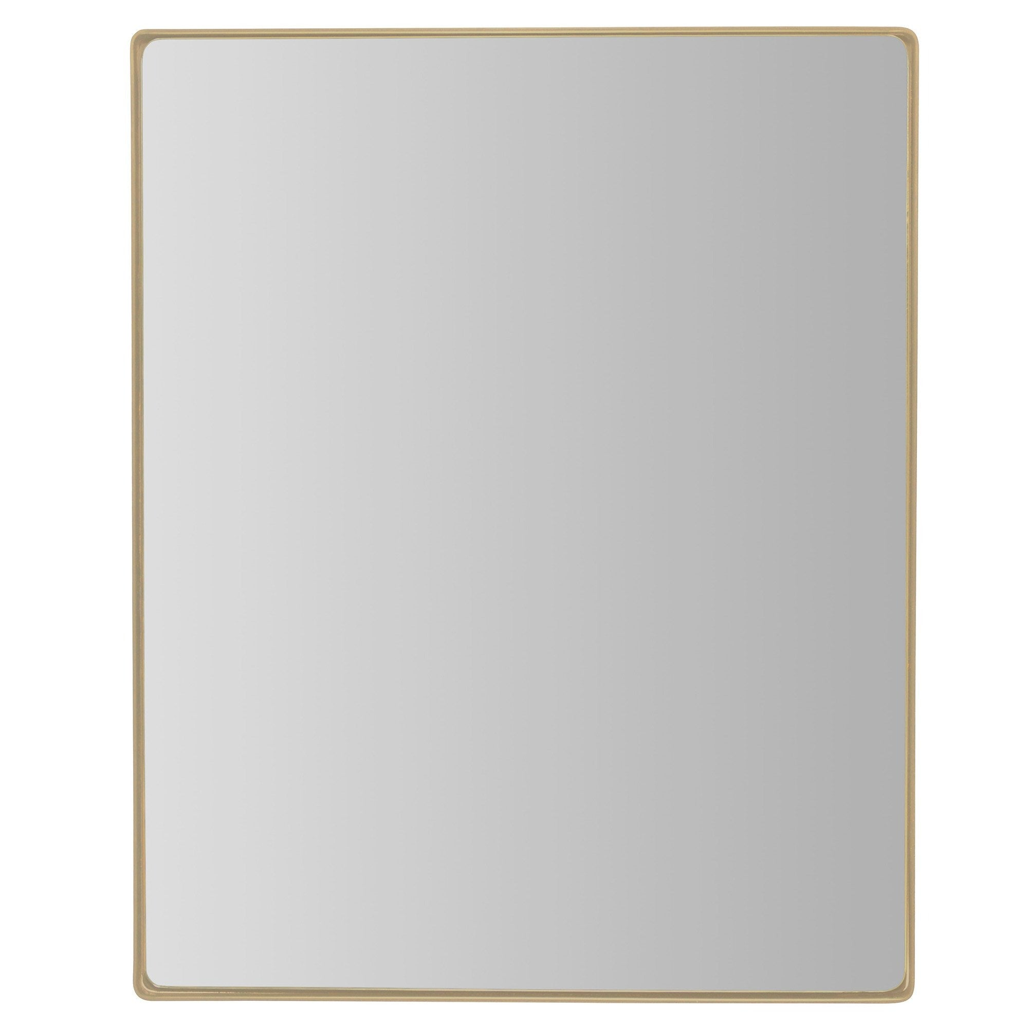 Kye 24x30 Rectangular Rounded Wall Mirror - Gold - 407A02GO