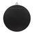Stopwatch 40-in Round Mirror - Black - 407A03BL