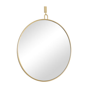 Stopwatch 40-in Round Mirror - Gold - 407A03GO