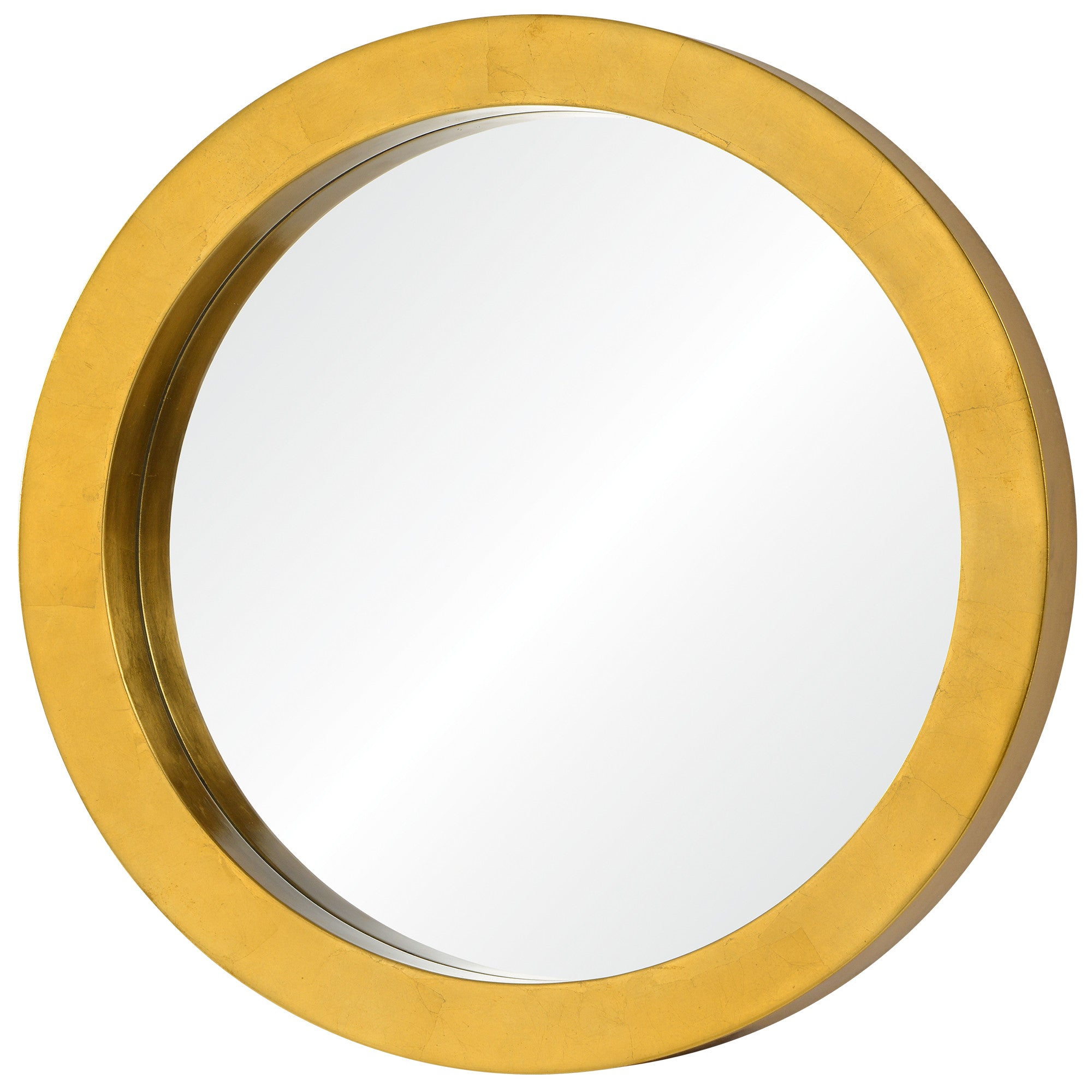 Relatively Ringleader 410A01GL Thick Frame Round Mirror - Gold Leaf - Varaluz KM78
