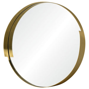 Echo 411A01 20 x 20 Round Mirror - Gold