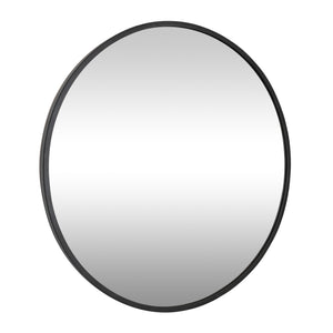 Cottage 30-in Round Mirror - Black