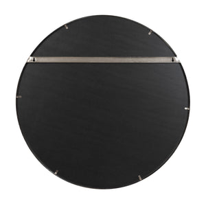 Cottage 30-in Round Mirror - Brushed Nickel