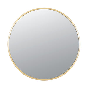 Cottage 30-in Round Mirror - Gold