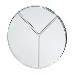 Lyra 30-in Round Accent Mirror - Polished Nickel 4DMI0106