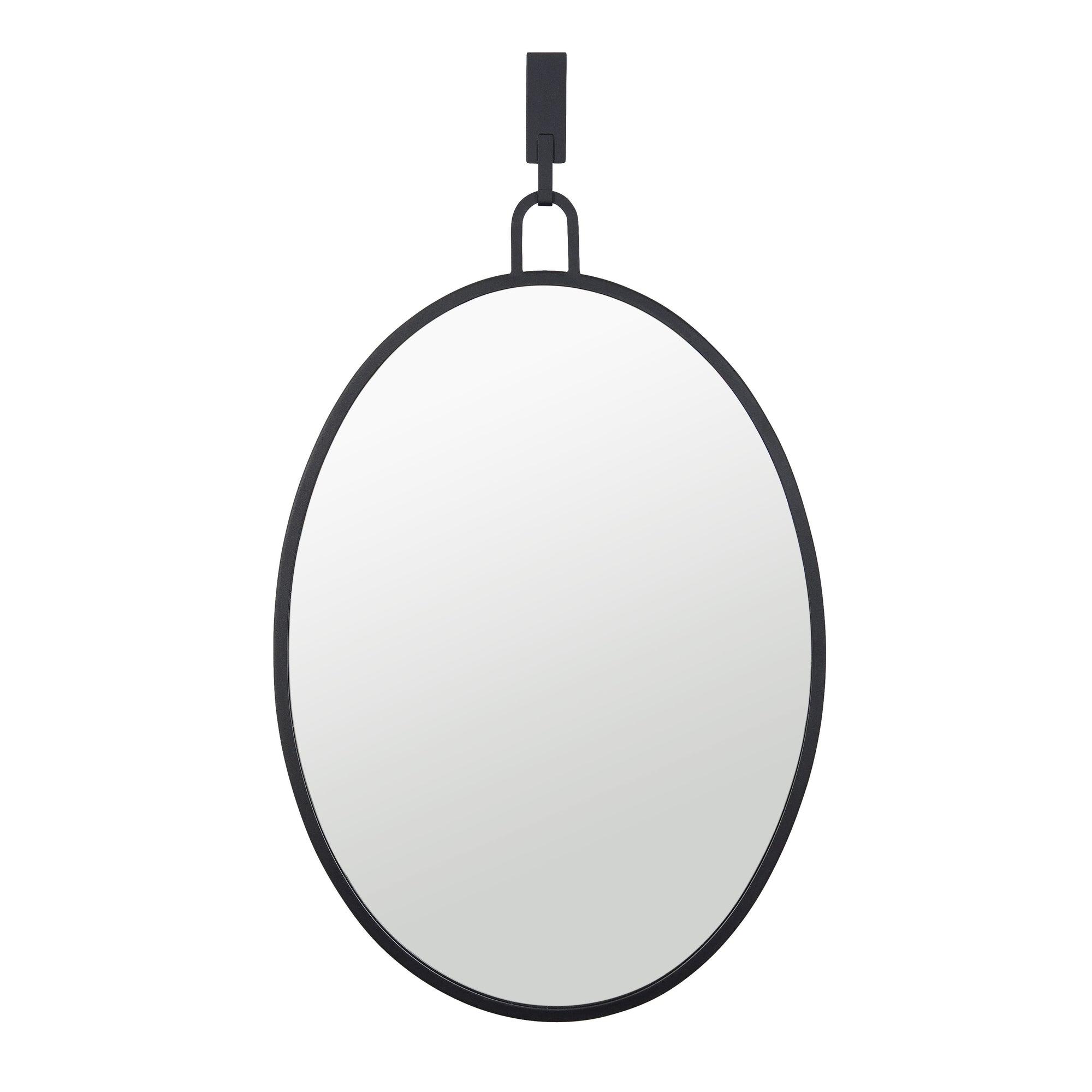 Stopwatch 22x30 Oval Powder Room Mirror - Black 4DMI0110
