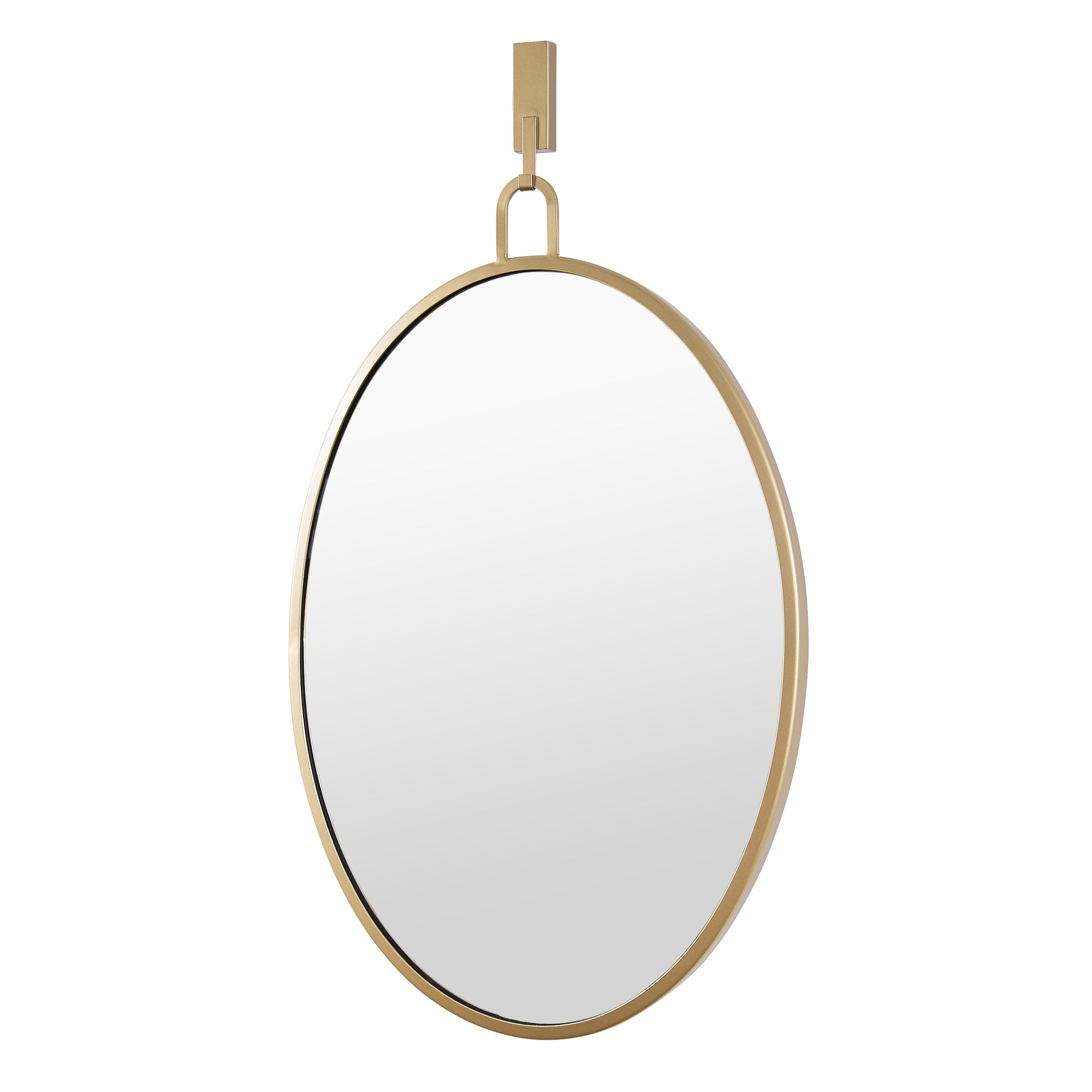 Stopwatch 22x30 Oval Powder Room Mirror - Gold  4DMI0111