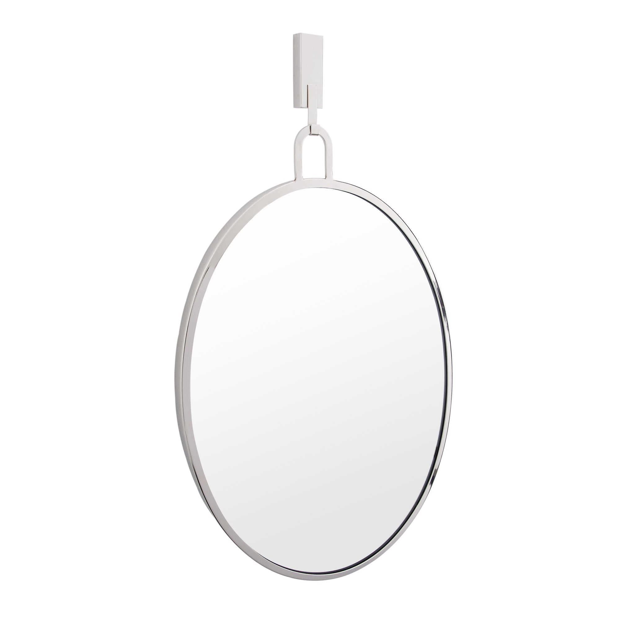 Stopwatch 22x30 Oval Powder Room Mirror - Polished Nickel 4DMI0112