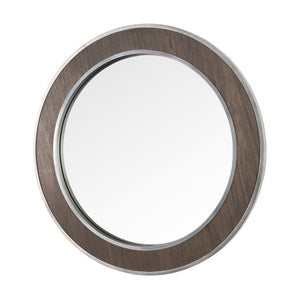 Macie 30-in Round Wood and Metal Mirror 4DMI0120