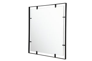 Tabon 30x30 Square Open Frame Mirror in Black - 4DMI0129