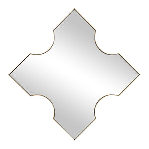 Extra 30x30 X-Frame Mirror in Gold 4DMI0151