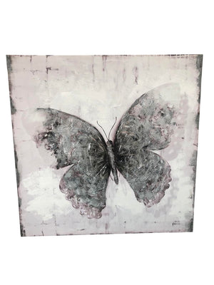 Flutter Black and White Mixed Media Wall Art