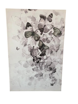Kaleidoscope Black and White Mixed Media Butterfly Art