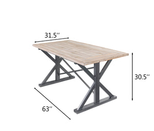 Dawson Rustic Wood Dining Table 4FTA0101