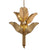 Banana Leaf 6-Lt Chandelier- Gold