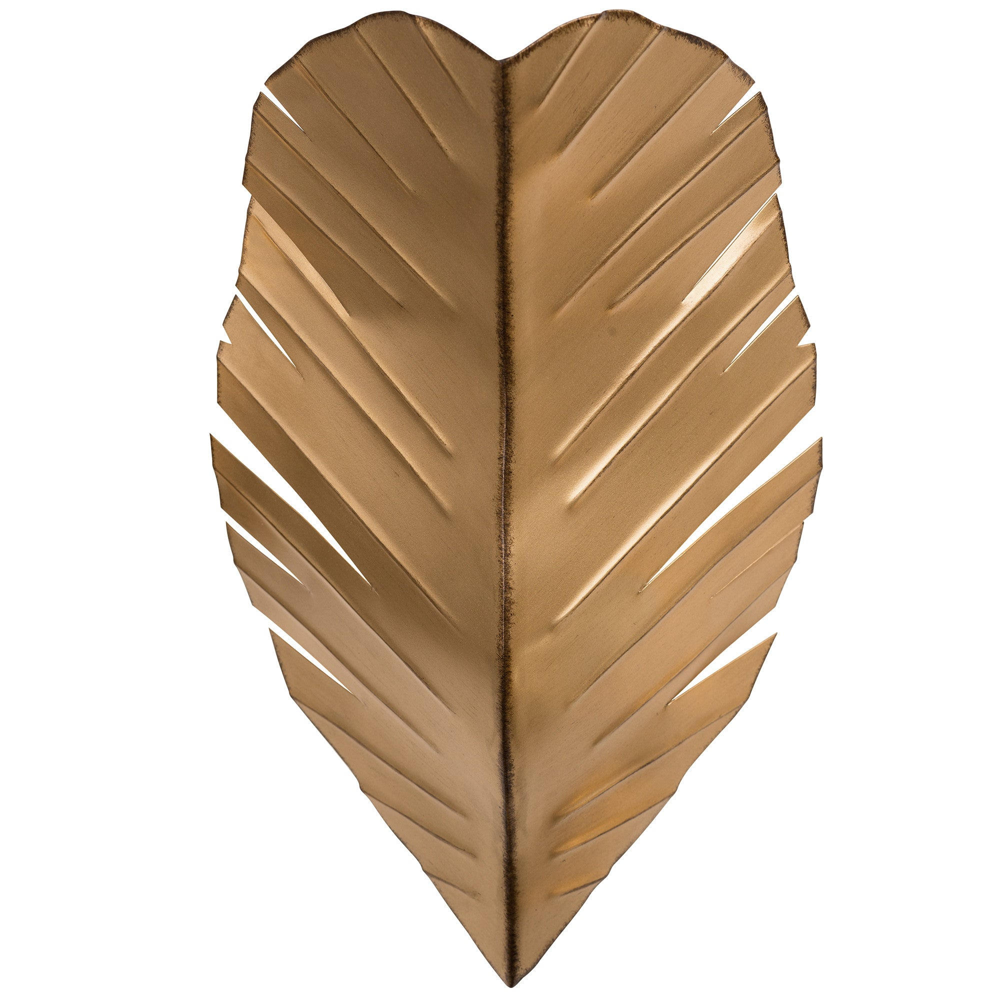 Banana Leaf 901K02GO 2-Lt Wall Sconce in hand-painted Gold finish