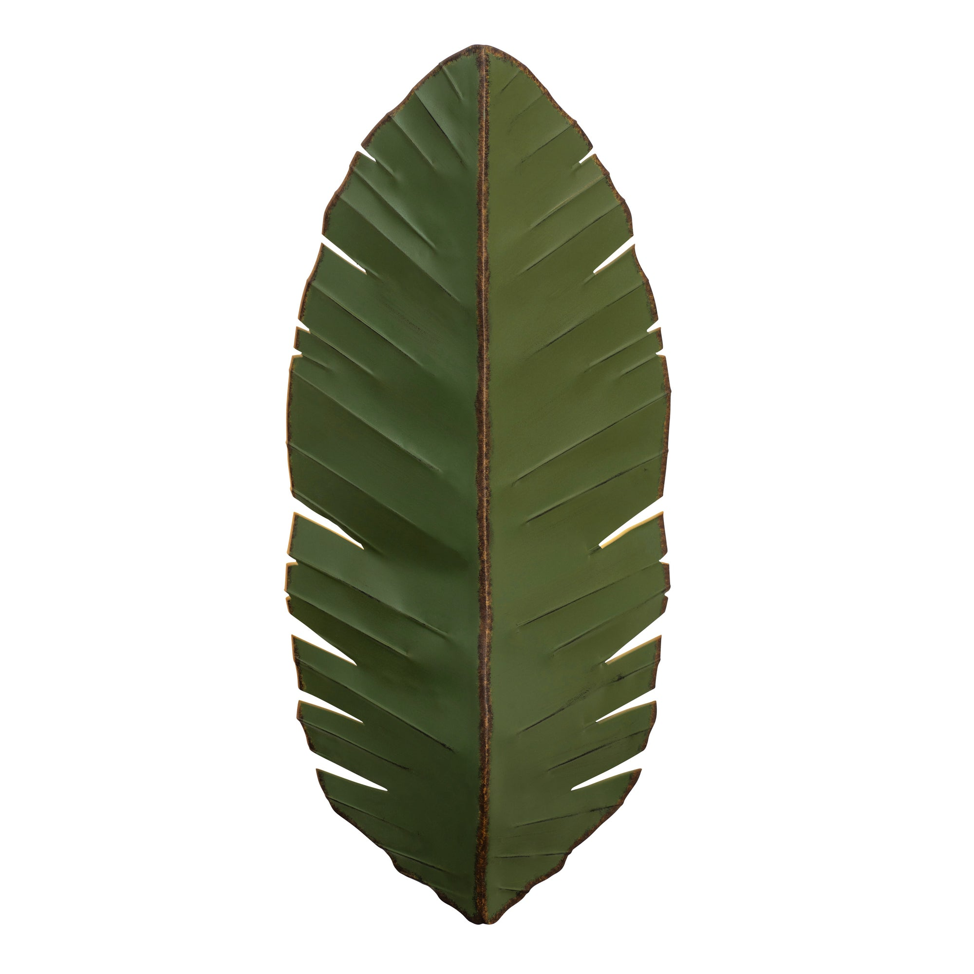 Banana Leaf 3-Lt Tall Sconce - Natural Green