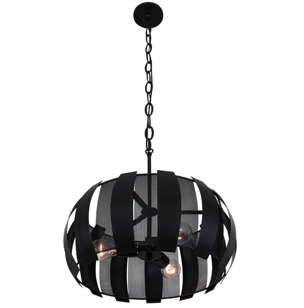Sawyers Bar 3-Lt Pendant - Black 287P03BL