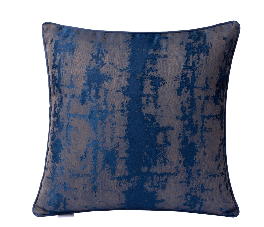 Modern Blue Imprint Square Throw Pillow 426a30 Varaluz