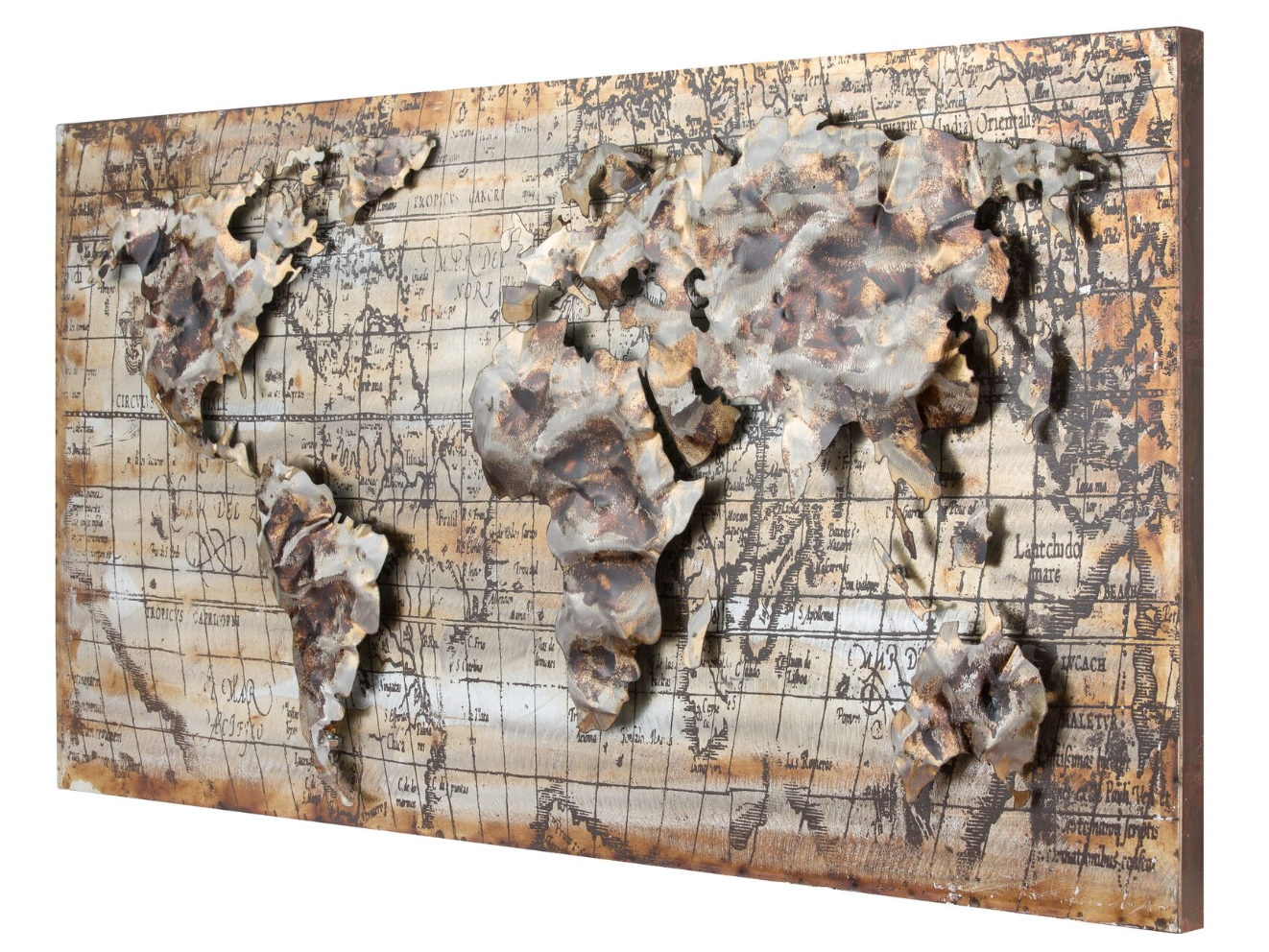 Relief World Map Wall Art 425A30