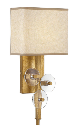 Engeared 1-Lt Wall Sconce - Antiqued Gold Leaf 612260