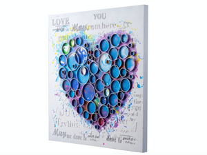Work Of Heart Blue Mixed-Media Wall Art	4DWA0111