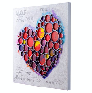 Work Of Heart Red Mixed-Media Wall Art  4DWA0113