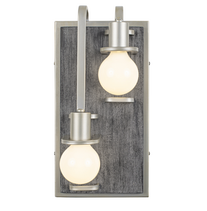 Lofty 2-Lt Left Sconce - Silverado/Gray Wood 268W02LSOG