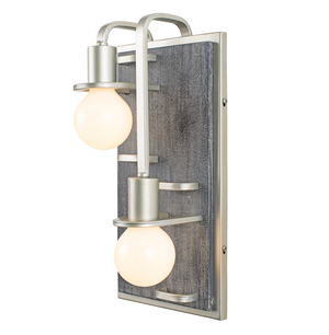 Lofty 2-Lt Right Sconce - Silverado/Gray Wood  268W02RSOG