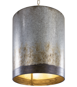Cannery 3-lt Pendant - Ombre Galvanized 323P03OG