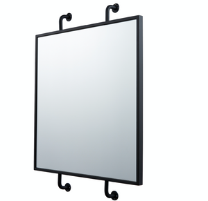 Tycho Pipe Mounted Wall Mirror - Black 4DMI0103