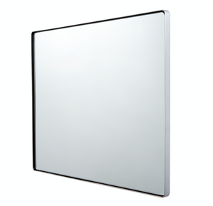 Kye 30x24 Rounded Rectangular Wall Mirror - Polished Nickel 407A02PN
