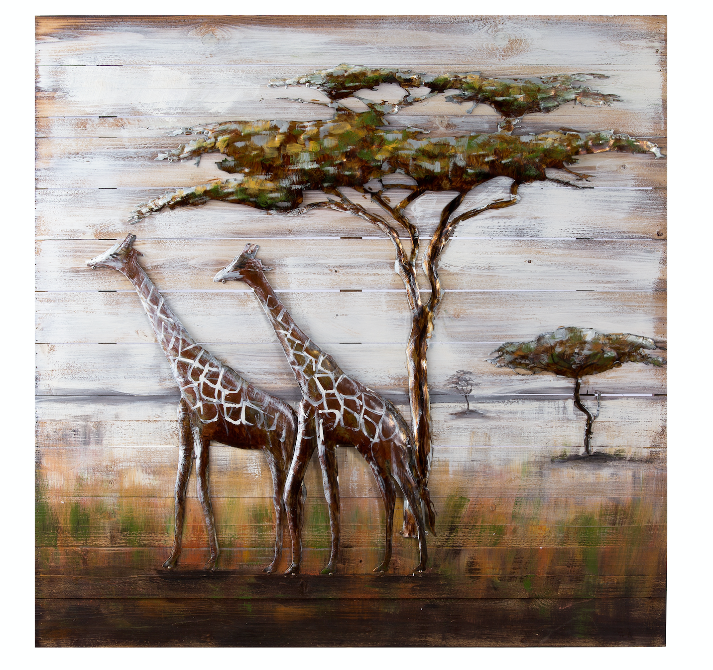 Serengeti Mixed Media Metal On Wood Wall Art 4dwa0109 Varaluz