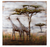 Serengeti Mixed-Media Metal on Wood Wall Art 4DWA0109