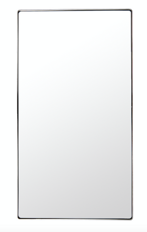 Kye 22x40 Rounded Rectangular Wall Mirror - Polished Nickel 4DMI0109