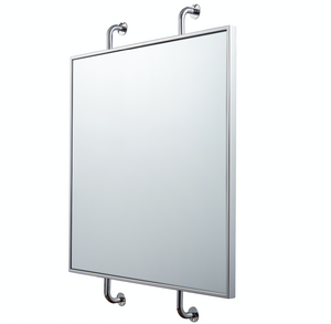 Tycho Pipe Mounted Wall Mirror - Polished Nickel 4DMI0104
